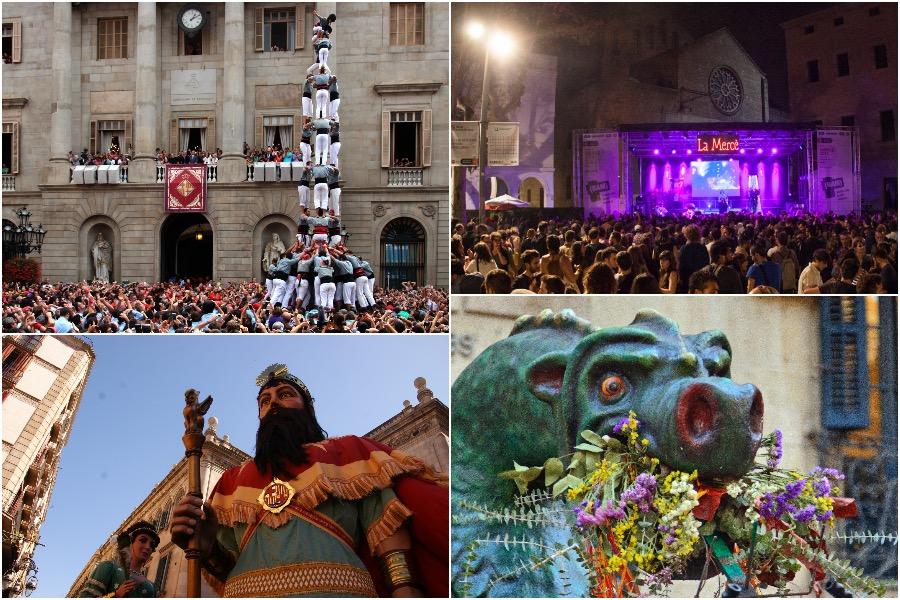Celebrating La Mercè Festivity